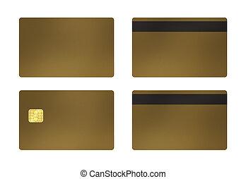 dorado, blanco, tarjeta, plano de fondo