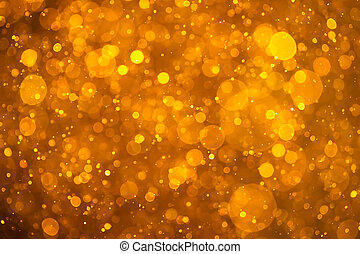dorado, brillante, bokeh, plano de fondo