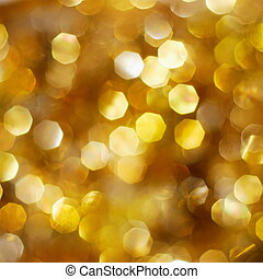 dorado, brillante, plano de fondo, luces
