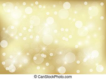 dorado, brillante, punto, plano de fondo