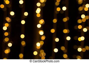 dorado, brillo, navidad, Plano de fondo, luces