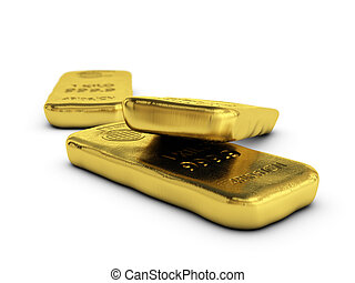 dorado, bullions, habitación, oro, texto, encima, barras, plano de fondo, blanco, lingotes, físico