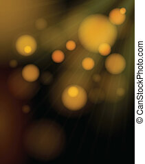 dorado, burbujas, shimmering, plano de fondo, confuso
