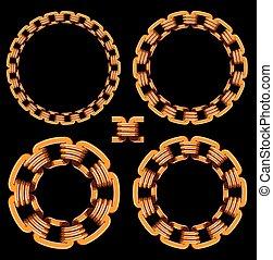 dorado, cadenas