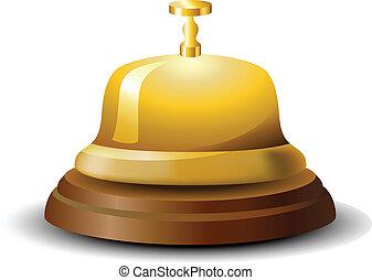 dorado, campana de recepción