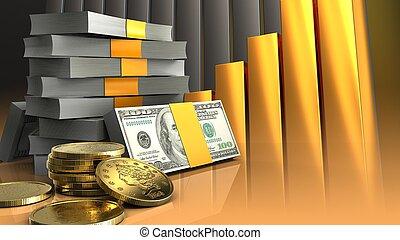 dorado, coins, 3d