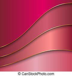 dorado, color, resumen, metal, curvas, vector, plano de fondo, frontera