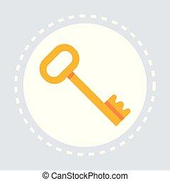 dorado, concepto, plano, cerradura, aislado, seguridad,...