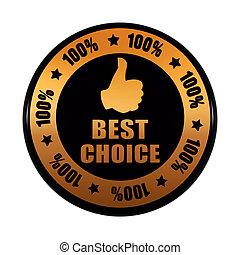 dorado, concepto, pulgar, empresa / negocio, porcentajes, texto, símbolo, -, arriba, opción, estrellas, negro, 3d, 100, etiqueta, círculo, mejor, señal