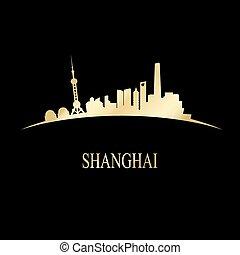 dorado, contorno, shanghai, lujo