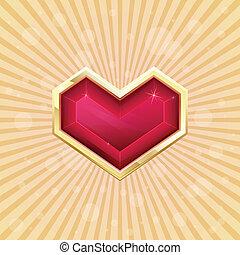 dorado, corazón