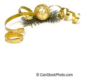 dorado, decoraciones de navidad