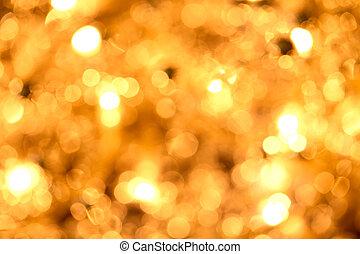 dorado,  Defocused, luces