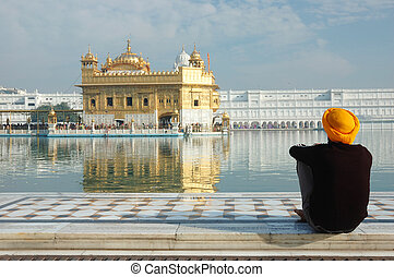 dorado, dentro, amritsar, templo