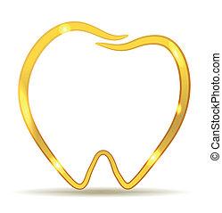 dorado, diente