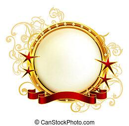 dorado, eps10, emblema