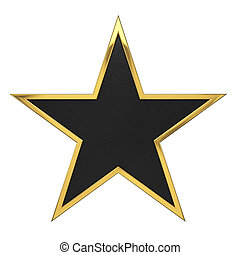 dorado, estrella, premio, con, espacio sin expresión