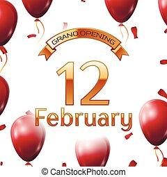 dorado, febrero, apertura, magnífico, ilustración, aire,...
