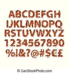 dorado, islámico, inglés, style., alfabeto