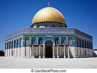 dorado, jerusalén, cúpula