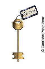 dorado, llave, éxito