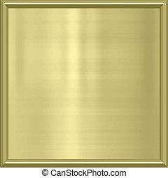 dorado, marco, metal, premio