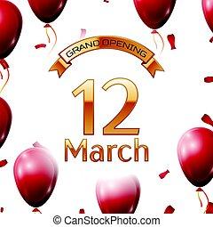 dorado, marzo, apertura, magnífico, ilustración, aire,...