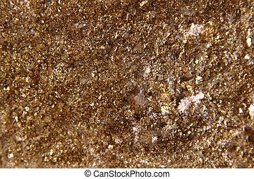 dorado, mineral, plano de fondo