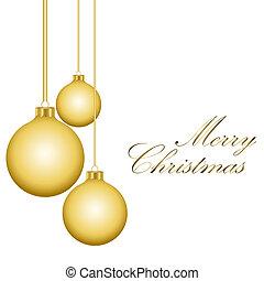dorado, navidad, pelotas