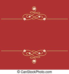 dorado, pearls., ilustración, signo., borgoña, calligraphic,...
