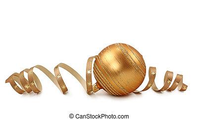 dorado, pelota de navidad