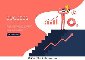 dorado, potencia, fuerza, empresa / negocio, cup., éxito,...