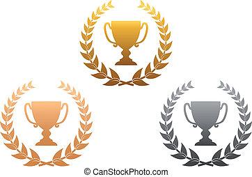 dorado, premios, plata, bronce