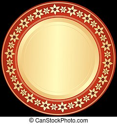 dorado, red-black, marco