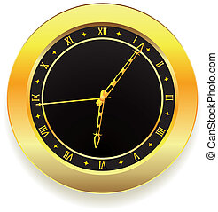 dorado, reloj