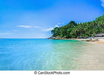 dorado, tailandia, arena, playa, paraíso