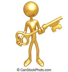 dorado, tenencia, llave