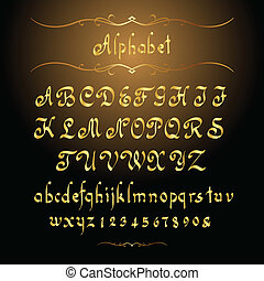 dorato, alfabeto