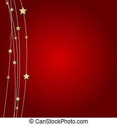 dorato, astratto, linee, illustrazione, stars., lucido, fondo