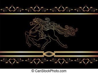 dorato, cavallo