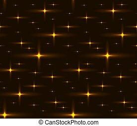 dorato, cielo, seamless, struttura, stars., notte