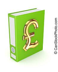 dorato, controlli peso simbolo, verde, cartella, sterling.