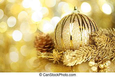 dorato, decorazioni natale