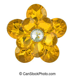 dorato, diamante, fiore