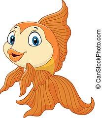 dorato, fish, cartone animato