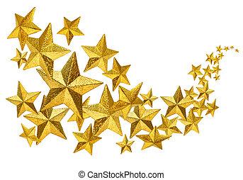 dorato, flusso, stelle