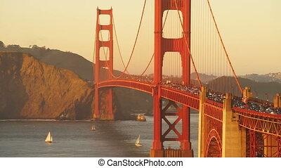 dorato, giunco, ora, ponte, transito, flussi, traffico,...
