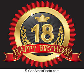 dorato, labe, 18, anni, compleanno, felice