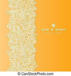 dorato, laccio, verticale, modello, seamless, rose, fondo