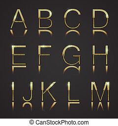 dorato, lettere
